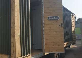 luxury shepherd hut toilet trailer